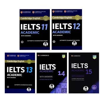 کتاب IELTS Academic Cambridge اثر جمعی از نویسندگان انتشارات الوندپویان جلد 11 تا 15