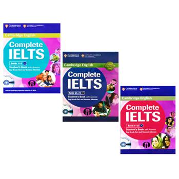 کتاب Cambridge English Complete IELTS Student Book اثر Guy Brook-Hart And Vanessa Jakeman انتشارات الوندپویان سه جلدی