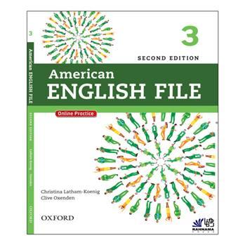 کتاب AMERICAN ENGLISH FILE 3 اثر CHRISTINA LATHAM KOENIG AND CLIVE OXENDEN انتشارات رهنما