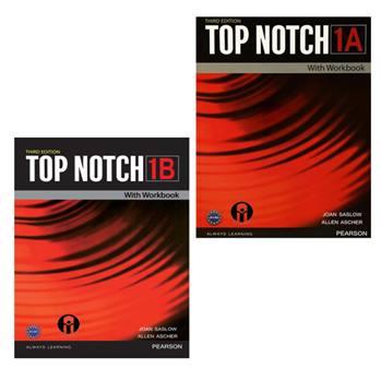 کتاب Top Notch 1 اثر Joan Saslow And Allen Ascher انتشارات الوندپویان دو جلدی