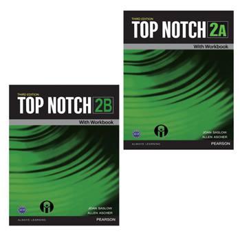 کتاب Top Notch 2 اثر Joan Saslow And Allen Ascher انتشارات الوندپویان دو جلدی