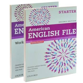 کتاب American ENGLISH FILE STARTER اثر جمعی از نویسندگان انتشارات OXFORD دو جلدی