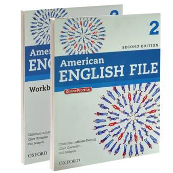 کتاب 2 American ENGLISH FILE اثر جمعی از نویسندگان انتشارات OXFORD دو جلدی