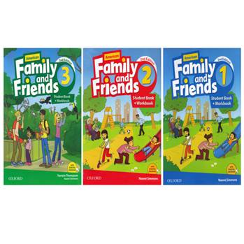 کتاب American Family And Friends اثر Tamzin Thompson and Naomi Simmons انتشارات Oxford سه جلدی