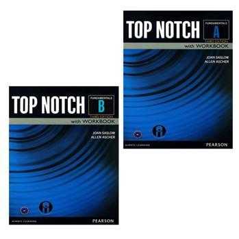کتاب Top Notch Fundamentals اثر Joan Saslow And Allen Ascher انتشارات الوندپویان دو جلدی