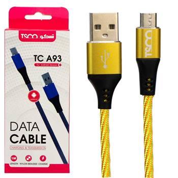 کابل تبدیل USB به microUSB تسکو مدل TC A93