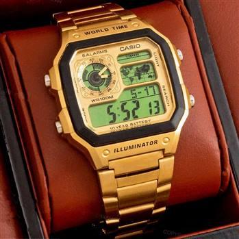 کاسیو جهان نما طلایی- CASIO WORLD TIME 1200