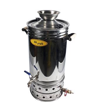 سماور گازی استیل 33 لیتری (شمعک دار)