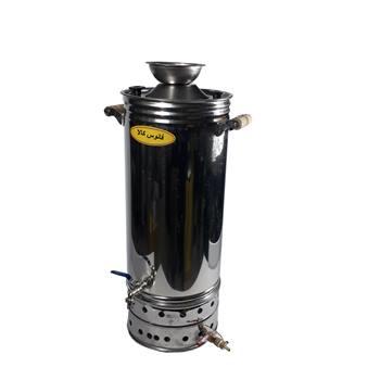 سماور گازی استیل 40 لیتری (شمعک دار)