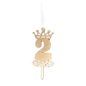 شمع تولد عدد 2 با استند