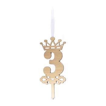 شمع تولد عدد 3 با استند