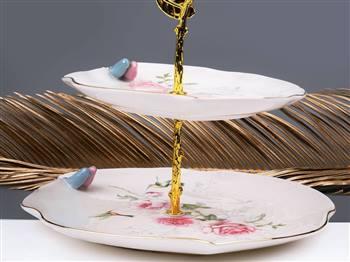 شیرینی خوری دو طبقه گلدکیش طرح نوبل